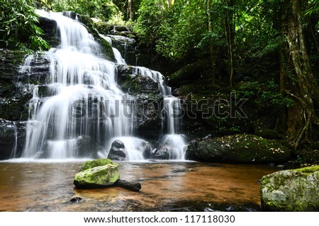 Landscape water fall in thailand