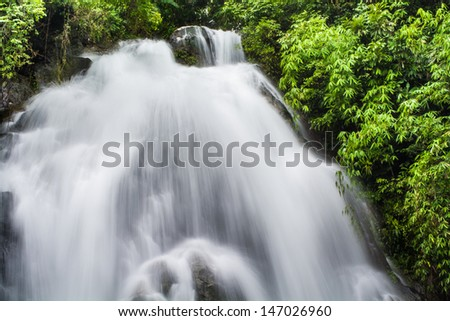 Landscape waterfall in the Southern of Thailand