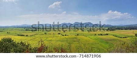 Landscape wide field  #714871906