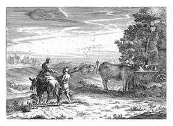 Landscape with a Woman Watering a Cow