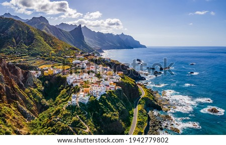 Landscape with coastal village at Tenerife, Canary Islands, Spain