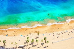 Landscape with Las teresitas beach, Tenerife, Canary Islands, Spain