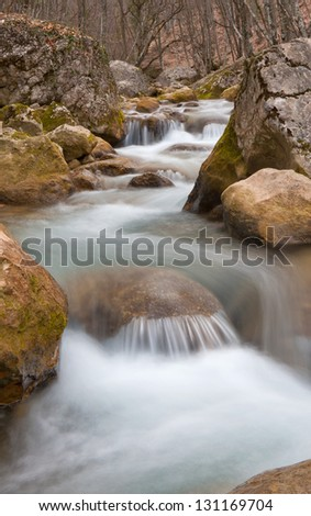 Landscape with nice mountain river