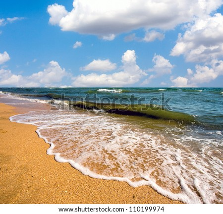 landscape with nice sea beach