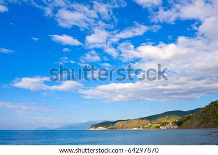 landscape with nice sky over sea