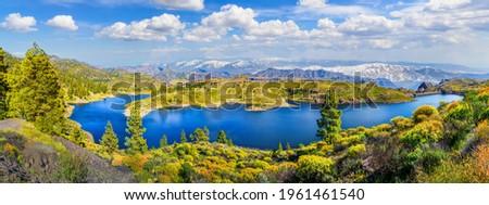 Landscape with Presa de Las Ninas, Gran Canaria, Spain Foto stock ©