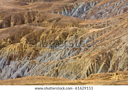 landscape with result of soil erosion
