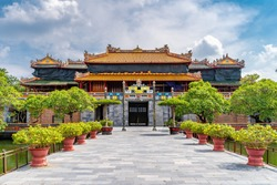 Landscape with Royal Palace, Hue, Vietnam