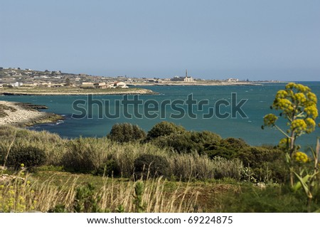 landscape with sea and beach, sicily, italy