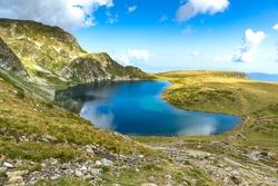 Landscape with The Kidney Lake, Rila Mountain, The Seven Rila Lakes, Bulgaria