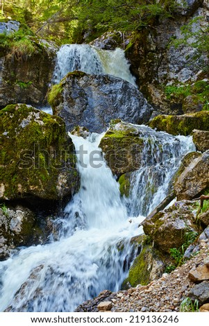 Landscape with waterfall in Apuseni national park, Romania #219136246