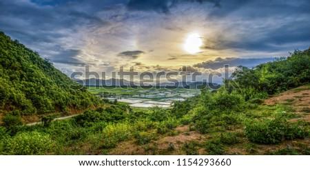 landscapes golden hour and blue hour #1154293660