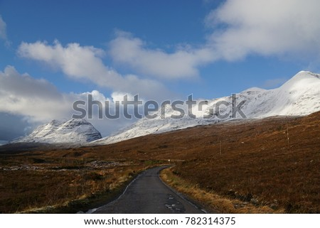 Landscapes in  Scotland's new North Coast 500 route in winter time, 25th of December 2017