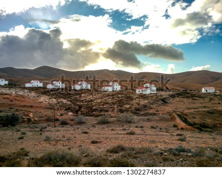 Landscapes of Fuerteventura,Canary Islands