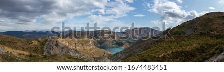 Landscapes of National park Sierra Nevada mountains near Malaga and Granada, Andalusia, Spain in summer Stock fotó ©