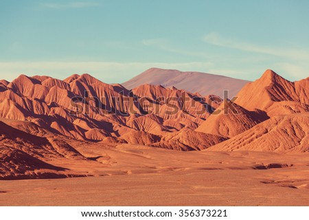 Landscapes of Northern Argentina - Shutterstock ID 356373221