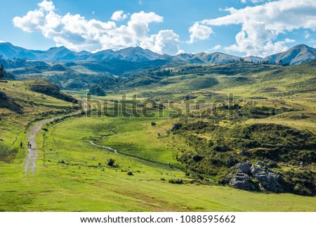 Landscapes outside the City of Cusco Peru #1088595662