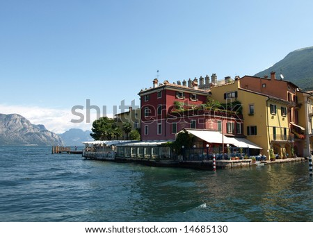 landscapes series - Malcesine on Garda lake Italy