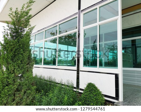 Landscaping in front of the house,Green Trees and plantations #1279544761