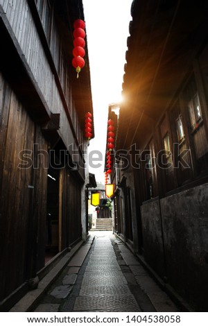 Lanes in the Ancient Town of Dangkou, Wuxi, China