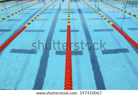 Lanes of a competition swimming pool #197410067