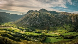 Langdale and the Langdale Pikes, Lake District, England