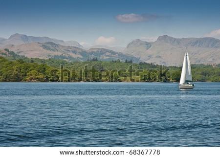 Langdales from Lake Windermere, Lake District