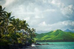 Lanikai Beach on the windward coast of Oahu, Hawaii Vacation