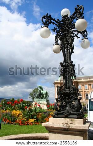 Lantern at the King Palace - Hungary, Budapest; Autumn