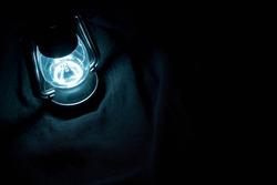 Lantern shining in the dark