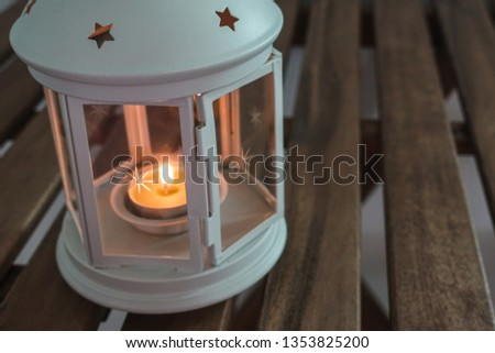 Lantern with candle for Ramadhan Celebration #1353825200