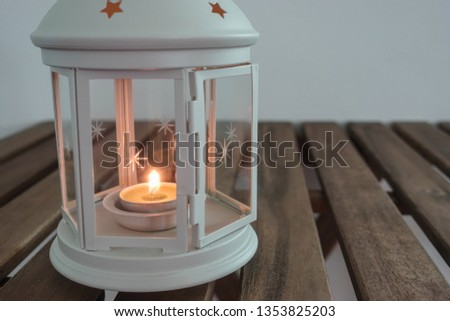 Lantern with candle for Ramadhan Celebration #1353825203