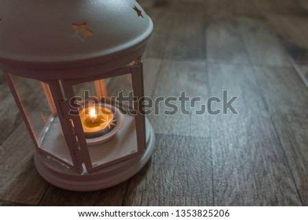 Lantern with candle for Ramadhan Celebration #1353825206