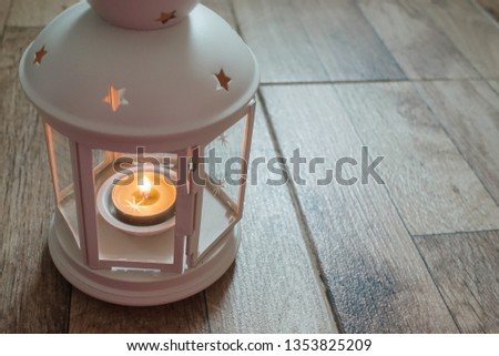 Lantern with candle for Ramadhan Celebration #1353825209