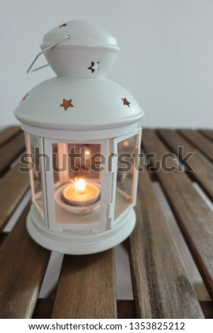 Lantern with candle for Ramadhan Celebration #1353825212
