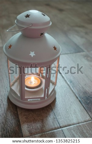 Lantern with candle for Ramadhan Celebration #1353825215