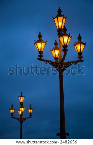 Lanterns on the Palace area in St.-Petersburg