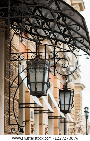 lanterns to illuminate buildings #1229273896