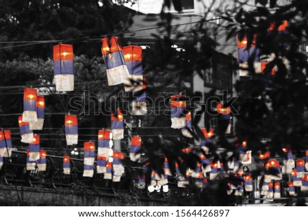 Lanterns whisper the wishes of people in the trees during the 2019 Seoul Lantern Festival.