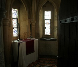 Lanthorn Tower Chapel. Tower of London. England