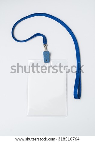 lanyard and badge conference badge blank badge template in plastic holder with blue strap. Black Bedroom Furniture Sets. Home Design Ideas