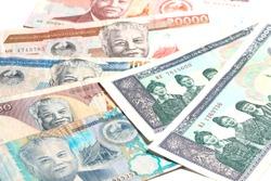 Laos money kip banknotes, LAK