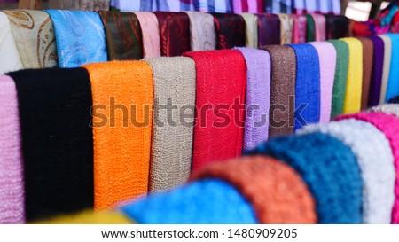 Laos Silk in luang prabang #1480909205