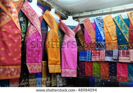 Laos silks clothes