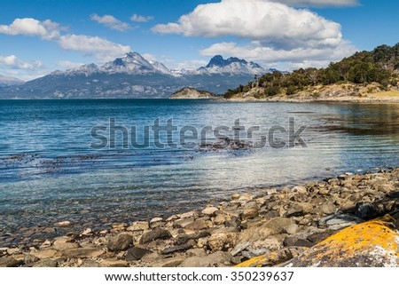 Shutterstock Lapataia bay in National Park Tierra del Fuego, Argentina