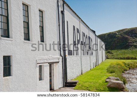 Laphroaig distillery on Islay, Scotland