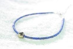 lapis lazuli and pyrite bracelet.