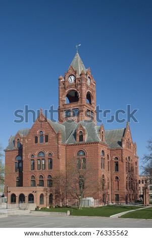 LaPorte County Courthouse LaPorte Indiana - stock photo