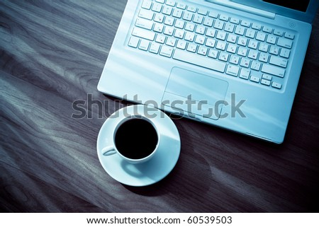 laptop and a cup of tea