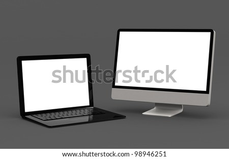 laptop and desktop computer